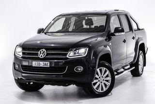 2016 Volkswagen Amarok 2H MY16 TDI420 4Motion Perm Highline Blue 8 Speed Automatic Utility.