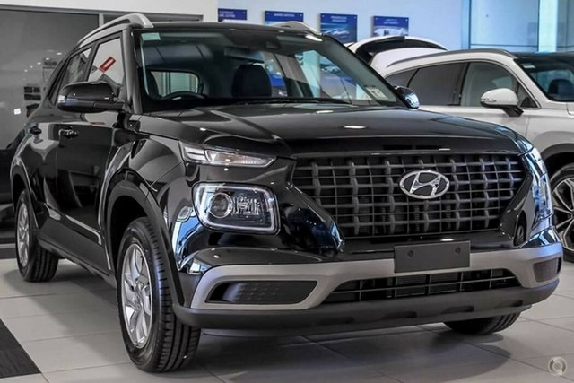 Demo Hyundai Venue QX MY20 Active, 2019 Hyundai Venue QX MY20 Active Phantom Black 6 Speed Automatic Wagon