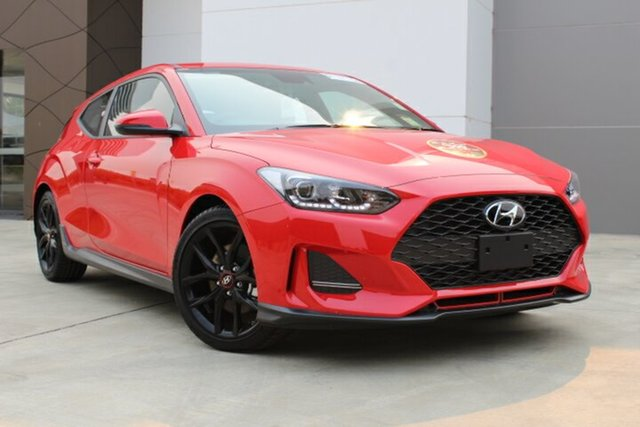 Demo Hyundai Veloster JS MY20 Turbo Coupe D-CT, 2019 Hyundai Veloster JS MY20 Turbo Coupe D-CT Ignite Flame 7 Speed Sports Automatic Dual Clutch