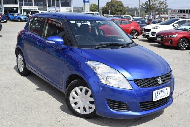 Used Suzuki Swift FZ GL, 2013 Suzuki Swift FZ GL Blue 4 Speed Automatic Hatchback