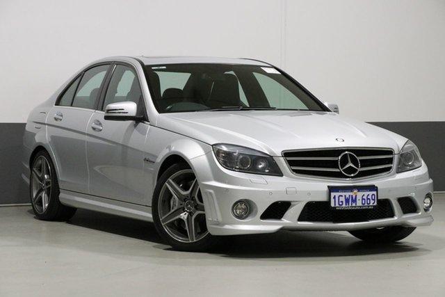 Used Mercedes-Benz C63 W204 MY10 AMG, 2011 Mercedes-Benz C63 W204 MY10 AMG Silver 7 Speed Automatic G-Tronic Sedan