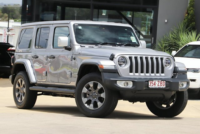 Used Jeep Wrangler JL MY19 Unlimited Overland, 2019 Jeep Wrangler JL MY19 Unlimited Overland Billet Silver 8 Speed Automatic Hardtop