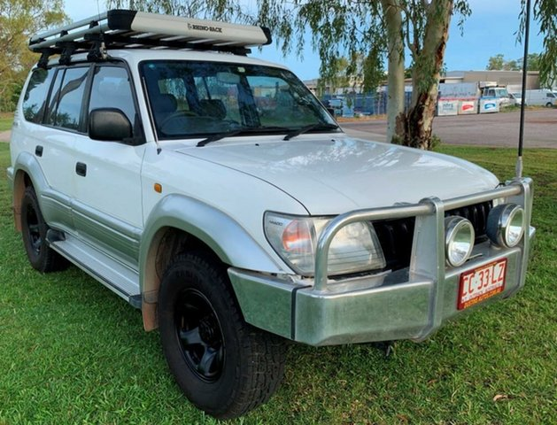 Used Toyota Landcruiser Prado VZJ95R GXL, 1998 Toyota Landcruiser Prado VZJ95R GXL White 5 Speed Manual Wagon