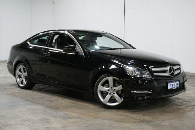 Used Mercedes-Benz C-Class C204 C180 7G-Tronic + Avantgarde, 2015 Mercedes-Benz C-Class C204 C180 7G-Tronic + Avantgarde Black 7 Speed Sports Automatic Coupe