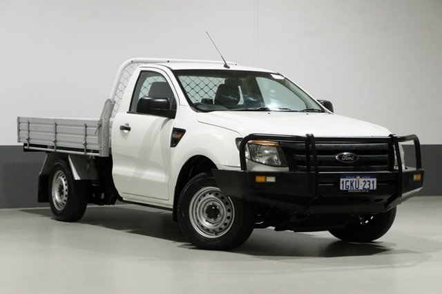 Used Ford Ranger PX XL 2.2 (4x2), 2014 Ford Ranger PX XL 2.2 (4x2) White 6 Speed Manual Cab Chassis