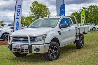 2011 Ford Ranger PX XL Super Cab White 6 Speed Manual Cab Chassis.