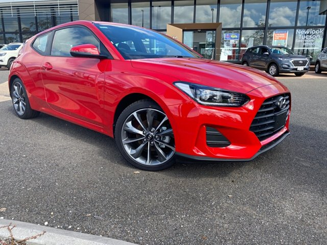 New Hyundai Veloster JS MY20 Coupe, 2019 Hyundai Veloster JS MY20 Coupe Red 6 Speed Automatic Hatchback