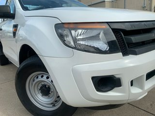 2012 Ford Ranger PX XL 4x2 White 6 Speed Manual Cab Chassis.