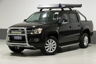 2012 Volkswagen Amarok 2H MY12 TDI400 Highline (4x4) Black 6 Speed Manual Dual Cab Utility.