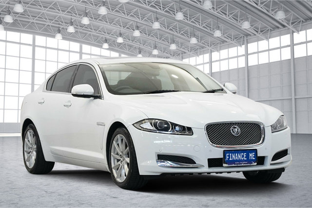Used Jaguar XF X250 MY12 Luxury, 2012 Jaguar XF X250 MY12 Luxury White 6 Speed Sports Automatic Sedan