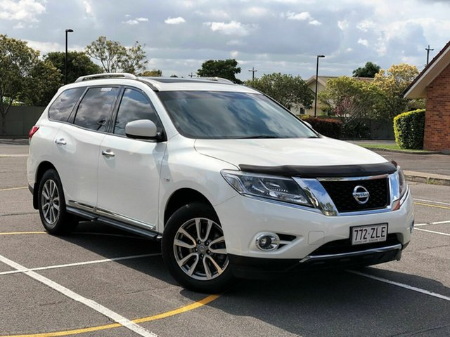 Used Nissan Pathfinder R52 MY15 ST-L (4x2), 2016 Nissan Pathfinder R52 MY15 ST-L (4x2) White Continuous Variable Wagon