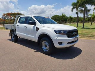 2019 Ford Ranger PX MkIII 2019.00MY XL Double Cab Arctic White 6 Speed Sports Automatic Cab Chassis.