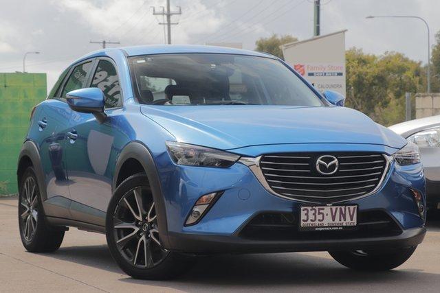 Used Mazda CX-3 DK4WSA sTouring SKYACTIV-Drive i-ACTIV AWD, 2015 Mazda CX-3 DK4WSA sTouring SKYACTIV-Drive i-ACTIV AWD Blue 6 Speed Sports Automatic Wagon