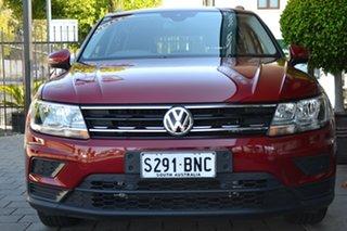 2017 Volkswagen Tiguan 5N MY18 110TSI DSG 2WD Trendline Burgundy 6 Speed.