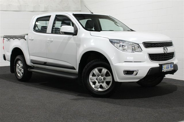 Used Holden Colorado RG MY15 LT Crew Cab, 2015 Holden Colorado RG MY15 LT Crew Cab Summit White 6 Speed Sports Automatic Utility