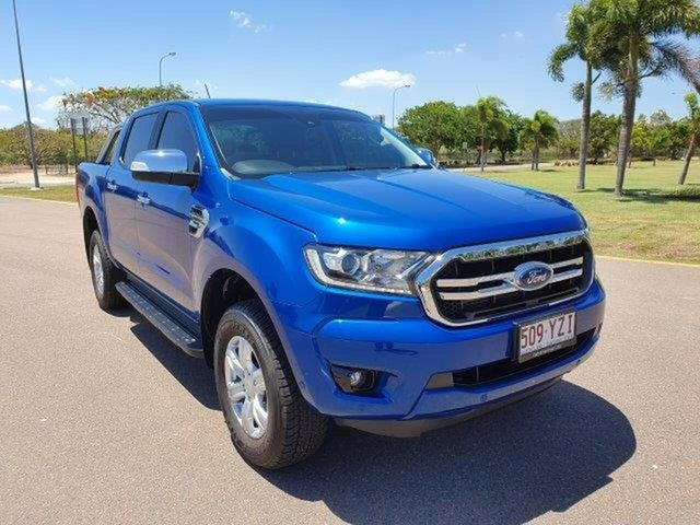 Used Ford Ranger PX MkIII 2019.00MY XLT Pick-up Double Cab, 2019 Ford Ranger PX MkIII 2019.00MY XLT Pick-up Double Cab Lightning Blue 10 Speed Sports Automatic