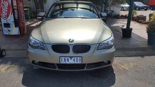 2004 BMW 5 Series E60 525i Steptronic Gold 6 Speed Sports Automatic Sedan.