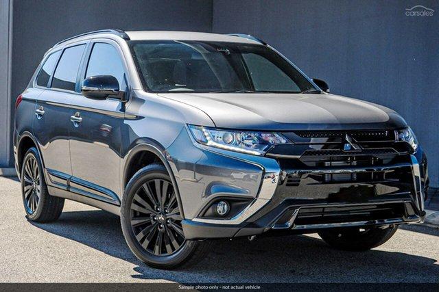 Demo Mitsubishi Outlander ZL MY20 Black Edition 2WD, 2019 Mitsubishi Outlander ZL MY20 Black Edition 2WD Titanium 6 Speed Constant Variable Wagon