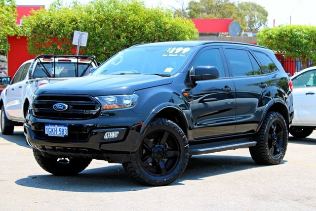 Used Ford Everest UA Ambiente 4WD, 2017 Ford Everest UA Ambiente 4WD Black 6 Speed Sports Automatic Wagon