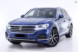 2019 Volkswagen Touareg CR MY19 190TDI Tiptronic 4MOTION Launch Edition Blue 8 Speed.