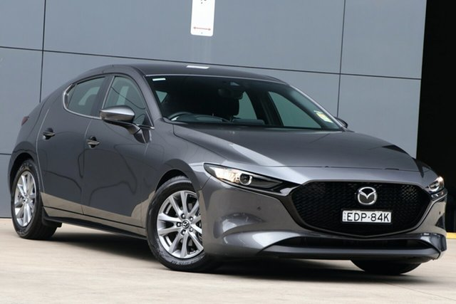 Demo Mazda 3 BP2H7A G20 SKYACTIV-Drive Pure, 2019 Mazda 3 BP2H7A G20 SKYACTIV-Drive Pure Machine Grey 6 Speed Sports Automatic Hatchback