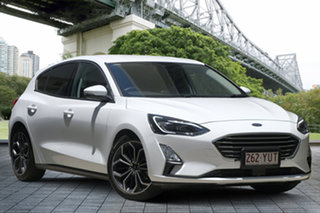 2018 Ford Focus SA 2019MY Titanium White 8 Speed Automatic Hatchback.