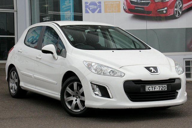 Used Peugeot 308 T7 MY13 Style, 2013 Peugeot 308 T7 MY13 Style White 6 Speed Sports Automatic Hatchback