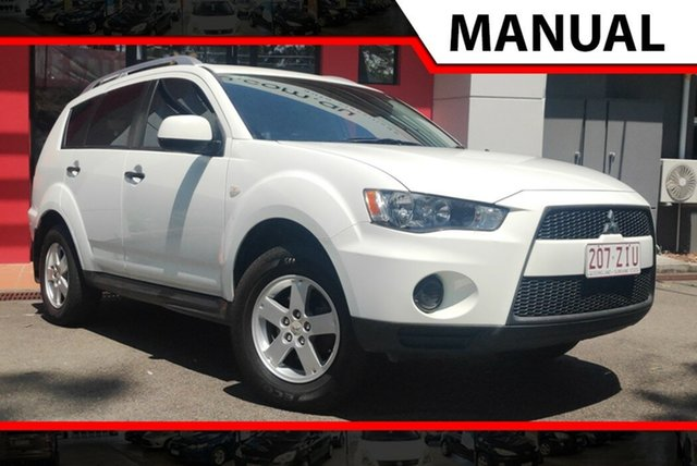 Used Mitsubishi Outlander ZH MY10 LS, 2010 Mitsubishi Outlander ZH MY10 LS White 5 Speed Manual Wagon