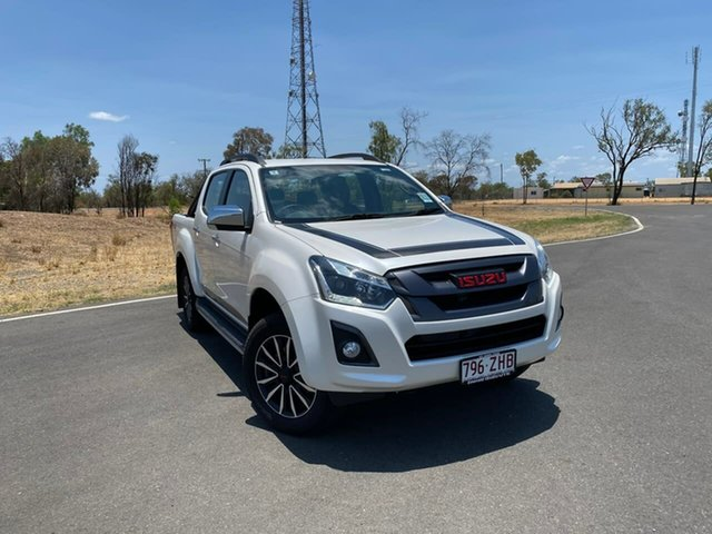 Demo Isuzu D-MAX MY19 X-Runner Crew Cab, 2019 Isuzu D-MAX MY19 X-Runner Crew Cab Pearl White 6 Speed Sports Automatic Utility