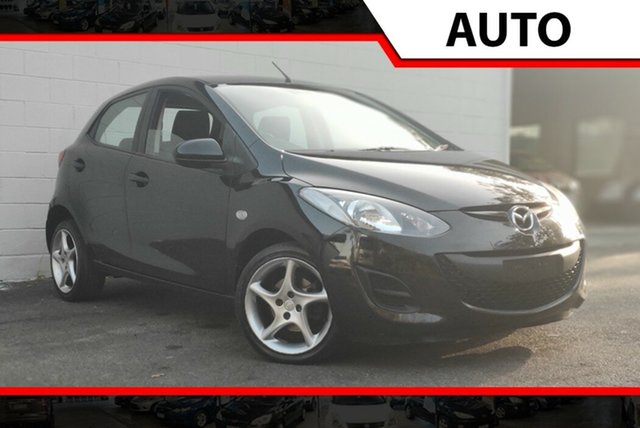 Used Mazda 2 DE10Y1 MY10 Neo, 2010 Mazda 2 DE10Y1 MY10 Neo Black 4 Speed Automatic Hatchback