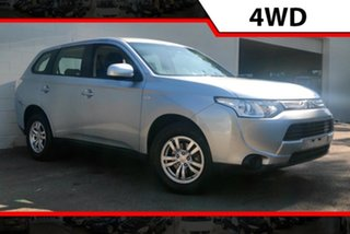 2012 Mitsubishi Outlander ZJ MY13 ES 4WD Silver 6 Speed Constant Variable Wagon.