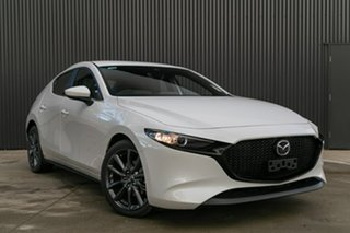 2019 Mazda 3 BP2HLA G25 SKYACTIV-Drive Evolve Snowflake White Pearl 6 Speed Sports Automatic.