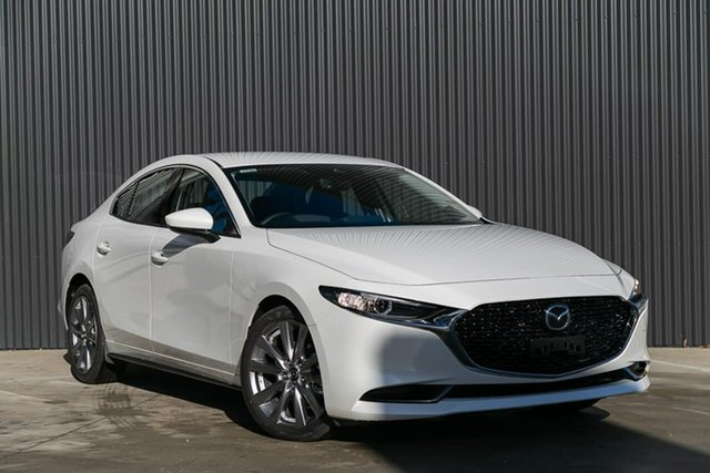Demo Mazda 3 BP2SLA G25 SKYACTIV-Drive GT, 2019 Mazda 3 BP2SLA G25 SKYACTIV-Drive GT Snowflake White Pearl 6 Speed Sports Automatic Sedan