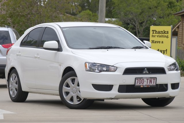 Used Mitsubishi Lancer CJ MY13 ES Sportback, 2013 Mitsubishi Lancer CJ MY13 ES Sportback White 6 Speed Constant Variable Hatchback