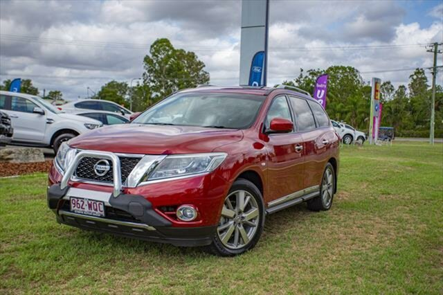 Used Nissan Pathfinder R52 Series II MY17 Ti X-tronic 4WD, 2016 Nissan Pathfinder R52 Series II MY17 Ti X-tronic 4WD Cayenne Red 1 Speed Constant Variable