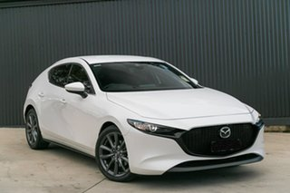 2019 Mazda 3 BP2HL6 G25 SKYACTIV-MT GT Snowflake White Pearl 6 Speed Manual Hatchback.