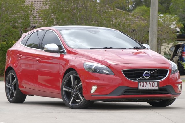 Used Volvo V40 M Series MY13 T5 Adap Geartronic R-Design, 2013 Volvo V40 M Series MY13 T5 Adap Geartronic R-Design Red 6 Speed Sports Automatic Hatchback