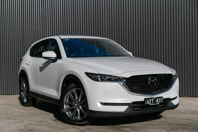 Demo Mazda CX-5 KF4WLA Akera SKYACTIV-Drive i-ACTIV AWD, 2019 Mazda CX-5 KF4WLA Akera SKYACTIV-Drive i-ACTIV AWD Snowflake White Pearl 6 Speed