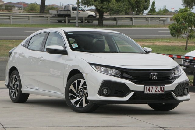 Demo Honda Civic 10th Gen MY19 +Luxe, 2019 Honda Civic 10th Gen MY19 +Luxe Platinum White 1 Speed Constant Variable Hatchback