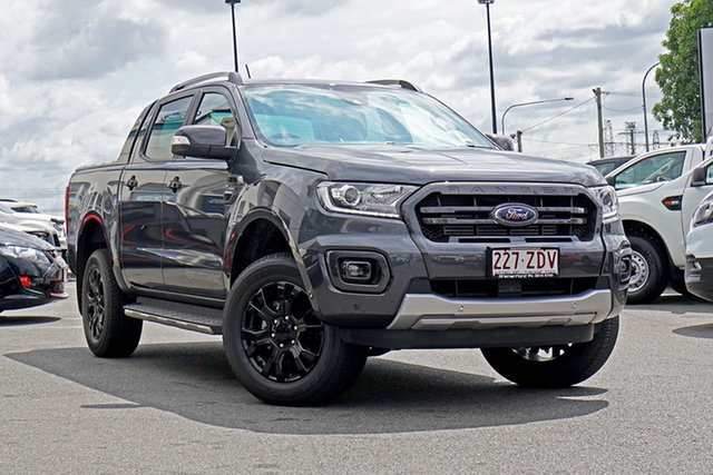 Used Ford Ranger PX MkIII 2019.75MY Wildtrak Pick-up Double Cab, 2019 Ford Ranger PX MkIII 2019.75MY Wildtrak Pick-up Double Cab Meteor Grey 10 Speed