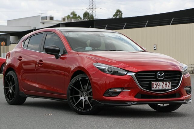 Used Mazda 3 BN5438 SP25 SKYACTIV-Drive Astina, 2017 Mazda 3 BN5438 SP25 SKYACTIV-Drive Astina Soul Red 6 Speed Sports Automatic Hatchback