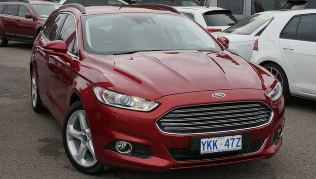 Used Ford Mondeo MD 2018.25MY Trend PwrShift, 2018 Ford Mondeo MD 2018.25MY Trend PwrShift Red 6 Speed Sports Automatic Dual Clutch Wagon
