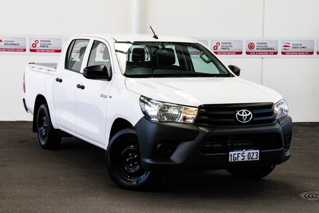 Used Toyota Hilux TGN121R Workmate, 2017 Toyota Hilux TGN121R Workmate Glacier White 6 Speed Automatic Dual Cab Utility
