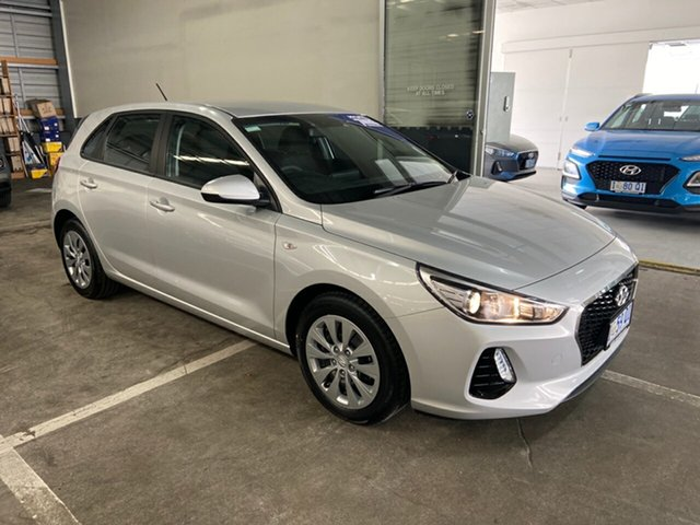 Demo Hyundai i30 PD MY19 Go, 2019 Hyundai i30 PD MY19 Go Platinum Silver 6 Speed Sports Automatic Hatchback