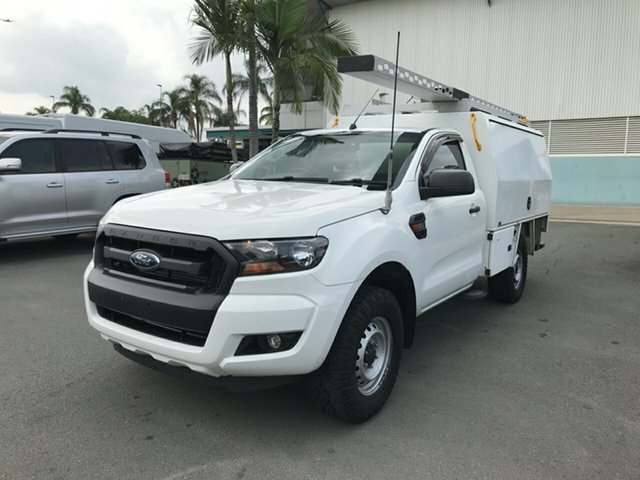 Used Ford Ranger PX MkII XL, 2015 Ford Ranger PX MkII XL Cool White 6 speed Automatic Cab Chassis