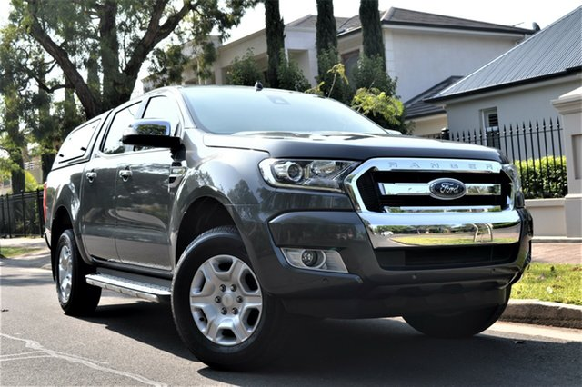 Used Ford Ranger PX MkII 2018.00MY XLT Double Cab 4x2 Hi-Rider, 2018 Ford Ranger PX MkII 2018.00MY XLT Double Cab 4x2 Hi-Rider Grey 6 Speed Sports Automatic Utility