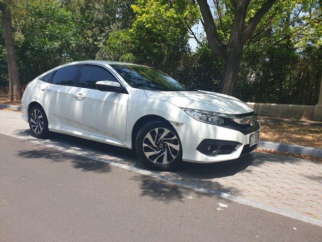 Used Honda Civic 10th Gen MY16 VTi-S, 2016 Honda Civic 10th Gen MY16 VTi-S White 1 Speed Constant Variable Sedan