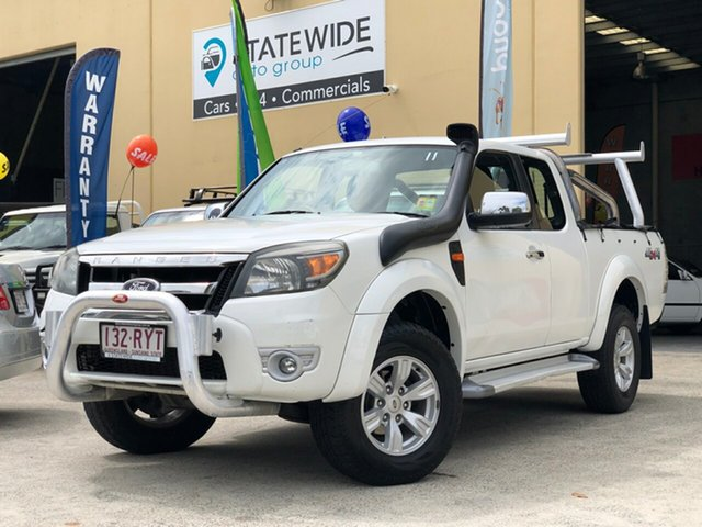 Used Ford Ranger PK XLT (4x4), 2011 Ford Ranger PK XLT (4x4) White 5 Speed Automatic Super Cab Utility