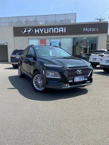 Demo Hyundai Kona OS.3 MY20 Elite 2WD, 2019 Hyundai Kona OS.3 MY20 Elite 2WD Phantom Black 6 Speed Sports Automatic Wagon