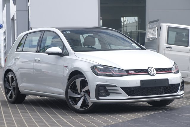 Demo Volkswagen Golf 7.5 MY19.5 GTI DSG, 2019 Volkswagen Golf 7.5 MY19.5 GTI DSG Pure White 7 Speed Sports Automatic Dual Clutch Hatchback